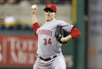 PITTSBURGH, PA - SEPTEMBER 28:  Homer Bailey #34 of the Cincinnati Reds pitches against the Pittsburgh Pirates during the game on September 28, 2012 at PNC Park in Pittsburgh, Pennsylvania.  (Photo by Justin K. Aller/Getty Images)