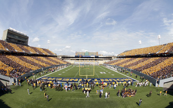 MORGANTOWN, WV - SEPTEMBER 29:  A general view of Mountaineer Field during the game between the West Virginia Mountaineers and the Baylor Bears on September 29, 2012 at Mountaineer Field in Morgantown, West Virginia.  (Photo by Justin K. Aller/Getty Image