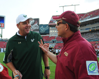 Skip Holtz and Jimbo Fisher
