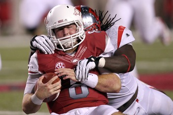 Tyler Wilson and the Arkansas Razorbacks' hopes for the season have been sacked.