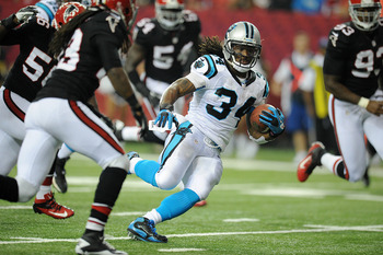 DeAngelo Williams (34) has been inconsistent in the Panthers' first four games.