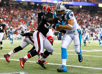 Greg Olsen (88) is Carolina's second-leading receiver behind Steve Smith.