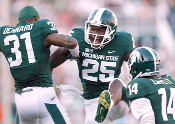 Other than his touchdown receptions, there wasn't much else for Keith Mumphery and the Spartans to smile about.