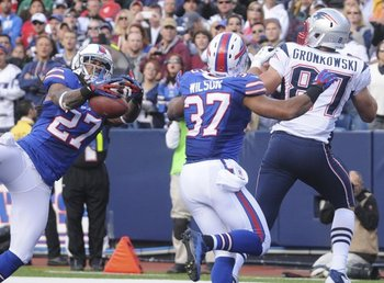 Gilmore almost recorded two interceptions against the Patriots. Photo Credit: REUTERS/Doug Benz