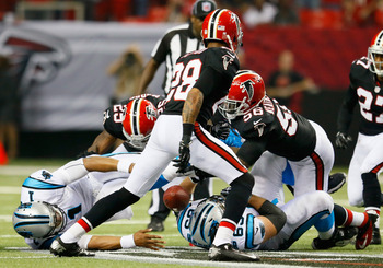 Cam's fumble shifted the game in Atlanta's favor