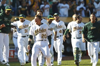The A's still have a shot at the AL West title.
