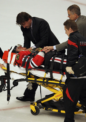Marian Hossa is still recovering from a concussion that he suffered during the playoffs last year.