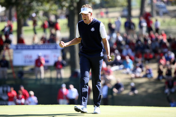 The fiery Poulter was the heart and soul of the European Ryder Cup team.