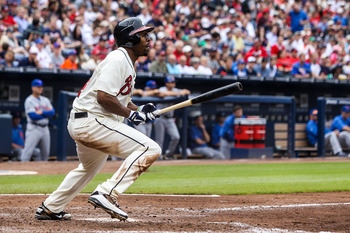 Michael Bourn was the Braves' top speedster.