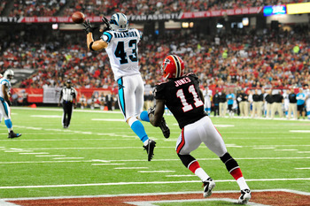 Haruki Nakamura (43) may have lost his position as Carolina's starting free safety for the first four games.