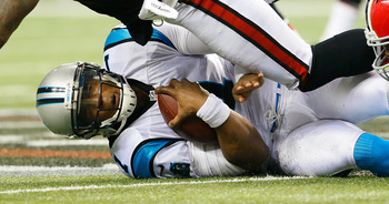 Cam Newton may find himself going down a good bit against Seattle.