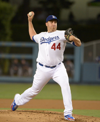 Dodgers starter Aaron Harnang will look to give his team hope tonight against the Giants.