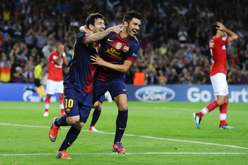 Messi's two late goals lifted Barcelona.