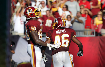 Davis has been useful in run support this year, helping Alfred Morris gain yards.