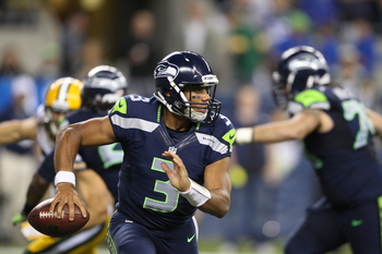 Seahawks QB Russell Wilson in Week 3 against Green Bay