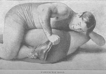 Gotch's toe hold. via AntekPrizRing.com.