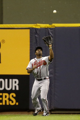 Atlanta center fielder Michael Bourn is the best of a strong group of fielders for the Braves.