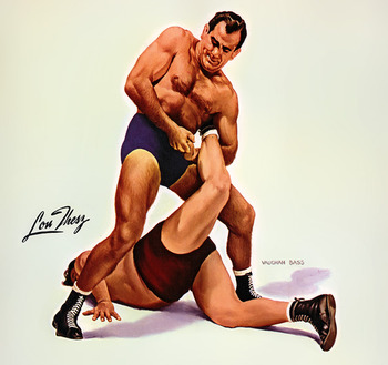 Lou Thesz painted by Vaughan Bass in 1954