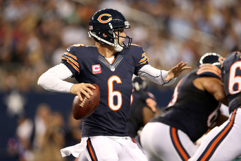 Jay Cutler has thrown five touchdown passes in 2012