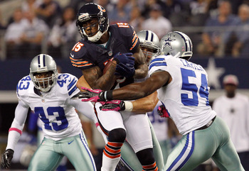 Brandon Marshall was the Bears leading receiver last night
