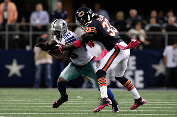 Charles Tillman was fourth on the team in tackles last night with 5