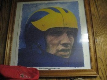 Photo: Adam Biggers (2010) An oil painting of one of Michigan's career greats, Ron Kramer