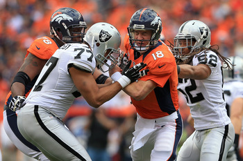 Manning struggled with his accuracy in early weeks but completed 30-of-38 passes in Week 4.
