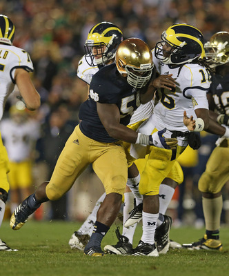 The Michigan Wolverines turned the ball over too many times to top the Notre Dame Fighting Irish.