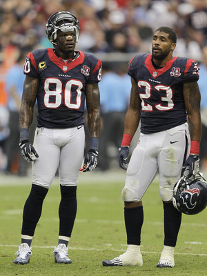 Johnson and Foster in a game vs. the Titans last Sunday.