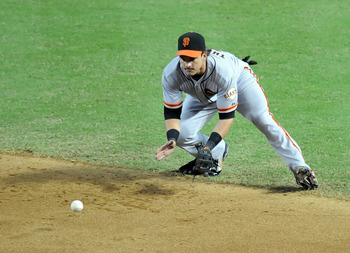 Ryan Theriot has provided a steady influence in the Giants' infield