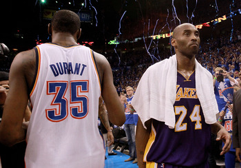 As Kobe nears the end of his storied career, Durant's is just beginning.