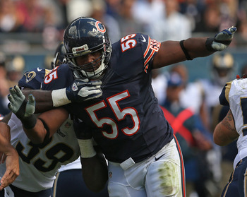 Lance Briggs looked like the world's biggest running back on Monday night.