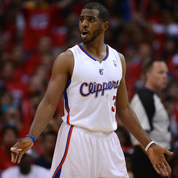 LOS ANGELES, CA - MAY 20:  Chris Paul #3 of the Los Angeles Clippers reacts in the third quarter while taking on the San Antonio Spurs in Game Four of the Western Conference Semifinals in the 2012 NBA Playoffs on May 20, 2011 at Staples Center in Los Ange