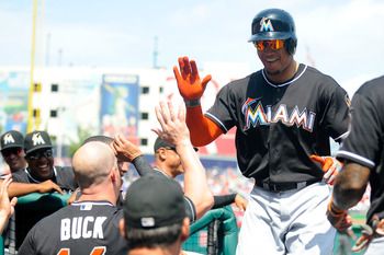 The Miami Marlins emptied their dugout, leaving Giancarlo Stanton as one of few fantasy relevant players still around.