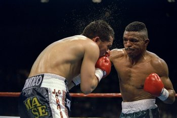 Frankie Randall became the first man to beat Julio Cesar Chavez.