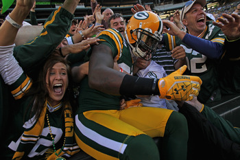 Packers Fans Celebrate a Big Win Over The Saints