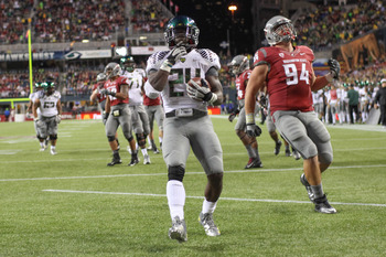 Kenjon Barner and the Ducks offense will face a Huskies defense that shut down Stanford's vaunted ground attack.