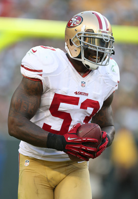 NaVorro Bowman has a big interception against the Packers