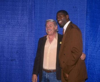 Magic Johnson is one of several mega-stars to have played for the Lakers with Buss as owner.