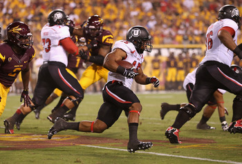 Utah's John White makes a run during the Utes' Sept. 22 game against Arizona State.