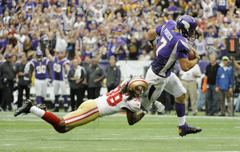 Christian Ponder's mobility gave the 49ers defense fits.