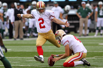 David Akers booted a 63-yard field goal earlier this season