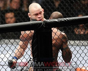 In this picture, you can see Wanderlei Silva's skull being separated from the rest of his body. Photo c/o MMAWeekly.com.