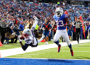 Lloyd recorded his first touchdown as a Patriot last week in acrobatic fashion.