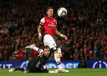 Giroud nets against Coventry to open his Arsenal account