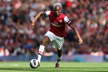Arsenal's Abou Diaby will miss this weekend's game due to injury