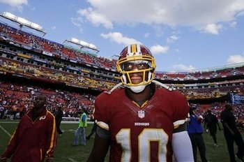 Skies have opened up since RGIII arrived in Washington. (Alex Brandon/AP)