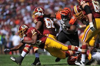 The Skins O-Line has paved the way for the NFC's No. 3 rusher. (Football Nation)