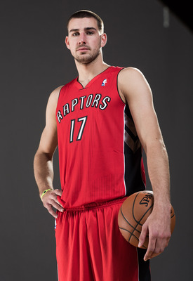Jonas V. will bring a new look to the Raptors inside this year.