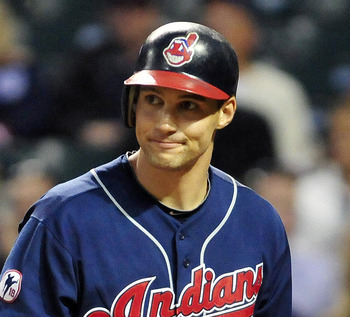 CLEVELAND, OH - SEPTEMBER 20: Grady Sizemore #24 of the Cleveland Indians reacts after striking out during the second inning against the Chicago White Sox at Progressive Field on September 20, 2011 in Cleveland, Ohio. (Photo by Jason Miller/Getty Images)
